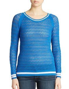 Context Tennis Sweater Women's Blue Small