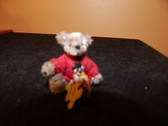 "Mary Bures, A Grand Scale, IGMA fellow - 1 7/8"" teddy wearing a sweater, sold on ebay for $38.99"