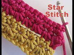Learn to Crochet Star Stitch Dishcloth - YouTube
