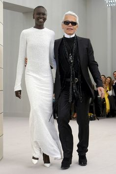 Alek Wek , Chanel Spring 2004 Haute Couture