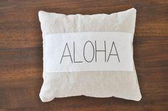 Summer Beach House Pillows - Sea Sand Surf, Aloha, Beach - beach pillows - surf pillows - aloha pillow - beach decor - beach house pillows