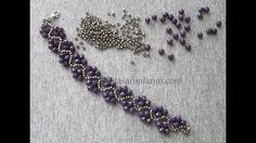 Zik Zak Modeli Bileklik Yapılışı In this article I share Bead Bracelet Making. Bracelet made of silver sand beads and light purple crystal beads Beaded Bracelets Tutorial, Seed Bead Bracelets, Seed Bead Jewelry, Bead Jewellery, Diy Jewelry, Jewelry Bracelets, Handmade Jewelry, Jewelry Design, Jewelry Making