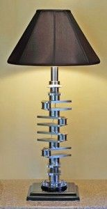 Lamp made from a crank shaft