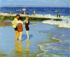 Edward Henry Potthast (1857-1927) - At Rockaway Beach http://www.pinterest.com/marimonte58/au-bord-de-la-mer/