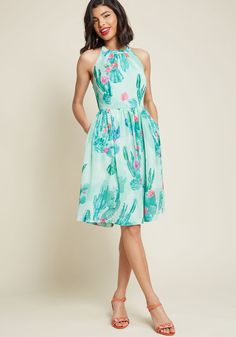 What's the Zeal? Chiffon Dress in Cacti @modcloth #modcloth