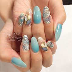 7 Nail Trends To Know In 2018 [Continue reading] Crazy Nail Art, Cool Nail Art, Nail Polish Designs, Cool Nail Designs, Long Round Nails, Round Shaped Nails, Jasmine Nails, Japanese Nail Art, Flower Nail Art