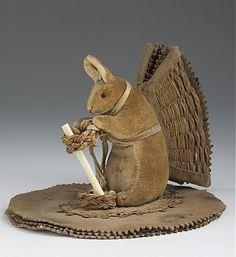 rabbit pen-wipe with basketry wings