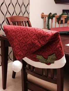 Santa Hat Chair Covers Target West Elm Chairs Dining 40 Best Christmas Images Decorated November 2014 Pattern By Nancy Halverson Table Please