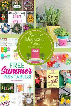 Summer Decorating Ideas + HM (Life With Lorelai) Free Summer, Summer Days, Summer Decorating, Decorating Ideas, Wall Shelves, Shelf, Bookshelves In Living Room, Stunning Summer, Summer Parties