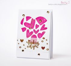 DIY thinking of you (Valentine) card with simple video tutorial