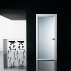 Modernus | Light Minimal| Interior Hinged Door | Acid Etched Glass Door Panel
