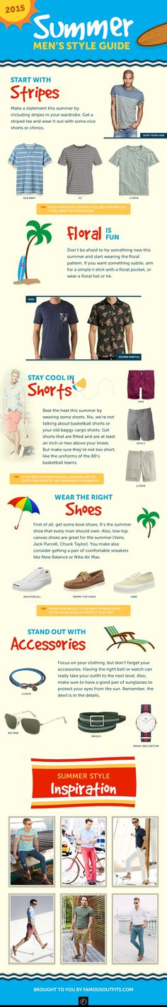 Put away your sweaters and jackets and prepare for the heat! Just because it's summer, doesn't mean you can't be stylish. We've created a concise men's summer style guide with some practical tips and pointers that you can start doing right away. So beat the heat and stay cool this summer with these six stylish pointers from your friends at Famous Outfits!