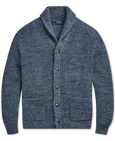 51fb2a78e0 Polo Ralph Lauren Men s Shawl-Collar Cardigan Sweater Men - Sweaters -  Macy s