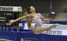 Alexandra Piscupescu from Romania in action during Rhythmic Gymnastics competition as part of the second day of the IX World Games Cali on July 26, 2013 in Cali, Colombia.