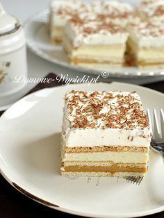 3 Bit bez pieczenia Polish Desserts, Polish Recipes, Some Recipe, Food Cakes, Healthy Desserts, No Bake Cake, Vanilla Cake, Cake Recipes, Food And Drink
