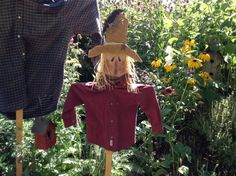Old Farmhouse Scarecrows by Michelle Boswell on Etsy #it's fall #Halloween #scarecrows