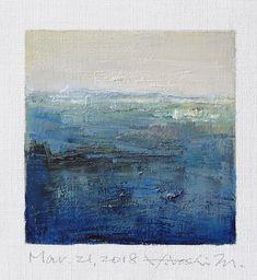 "Mar. 21, 2018 9 cm x 9 cm (app. 4"" x 4"") oil on canvas © 2018 Hiroshi Matsumoto www.hiroshimatsumoto.com"