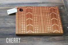 Tribal Design Cutting Board - Wood Engraved Modern Aztec Pattern ...