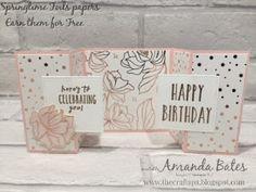 The Craft Spa - Stampin' Up! UK independent demonstrator : Springtime Foils Double Gatefold Card & Tutorial