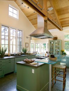 Vaulted Ceiling Kitchen Ideas Kitchen Ceiling Design Kitchen Design Modern Kitchen Design