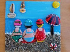 Pebble Painting, Pebble Art, Stone Painting, Cactus Painting, Stone Crafts, Rock Crafts, Arts And Crafts, Diy Crafts, Rock Painting Ideas Easy