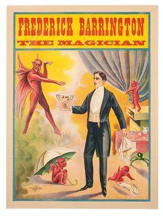 Frederick Barrington the Magician vintage stock poster : Lot 453
