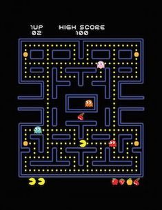 Our favorite yellow cicle will never be forgotten Pac Man Videos, Pac Man Party, Gaming Wall Art, Retro Video Games, Retro Games, Man Games, Diy For Men, Arcade Games, Pixel Art
