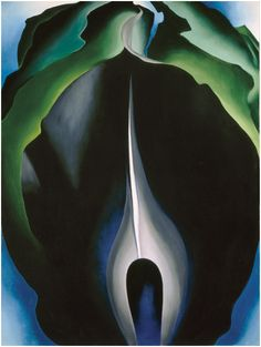 Georgia O'Keeffe, Jack-in-the-Pulpit No. IV, 1930. Oil on canvas, 40 × 30 in. (101.6 × 76.2 cm). National Gallery of Art, Washington, D.C. Alfred Stieglitz Collection; bequest of Georgia O'Keeffe 1987.58.3. Image courtesy of the Board of Trustees, National Gallery of Art