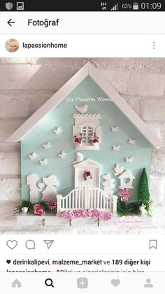Clay Art Projects, Projects To Try, Picture Frame Decor, Cd Crafts, Quilted Gifts, Fabric Brooch, Cool Kitchen Gadgets, Miniature Rooms, Bluebirds
