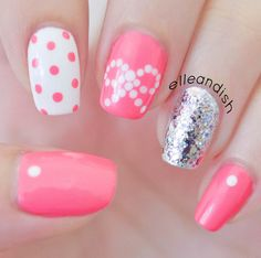 Easy Bow Nails...Using Dots! nail art by Janelle