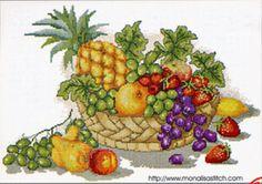 cuadros punto de cruz frutas y verduras - Buscar con Google