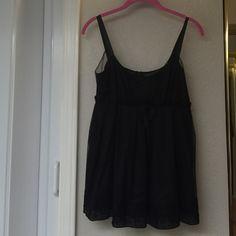 Jill Stuart Black sleeveless top with embroidery detail at hem Jill Stuart Tops Camisoles