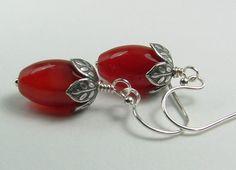 Carnelian Jewelry Carnelian Earrings Orange by hazaricreations
