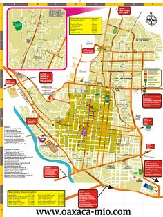 Mapa turistico de Oaxaca