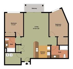 Image result for 2 bedroom apartment floor plans