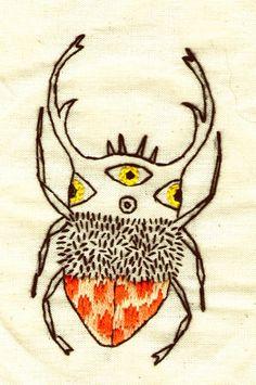 ♒ Enchanting Embroidery ♒ embroidered bug | angá mi bicho defor