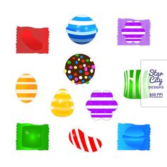 Candy Pieces Clip Art- Clipart, Vector Art, Graphics for Personal Use on Etsy, $4.00
