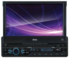 BOSS AUDIO BV9965 Single-DIN 7 inch Motorized Touchscreen DVD Player Receiver, Detachable Front Panel, Wireless Remote