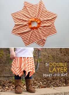 Double Layer Square Skirt Square Skirt, Sewing Projects For Kids, Crafts To Do, Crafts For Kids, Creative Kids, Diy For Kids, Baby Dress, Diy Clothes, Grandkids