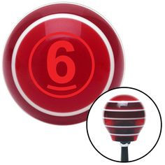 Red Ball 6 Red Stripe Shift Knob with M16 x 15 Insert