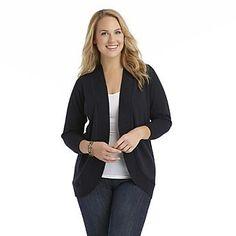 Covington Women's Plus Open Front Cardigan