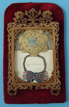 Antique Hair Memento Folk Art Woven Love Token in Frame 1859 Polk County Iowa | eBay
