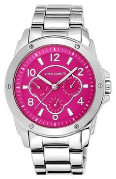 Vince Camuto Multifunction Round Bracelet Watch, 43mm available at #Nordstrom