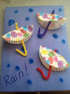 Kids crafts Frugal April Fun Craft for Kids: DIY Rainy Day Paper Umbrellas Soapstone Countertops – D Daycare Crafts, Classroom Crafts, Fun Crafts For Kids, Summer Crafts, Projects For Kids, Diy For Kids, Craft Projects, Arts And Crafts, Rainy Day Crafts