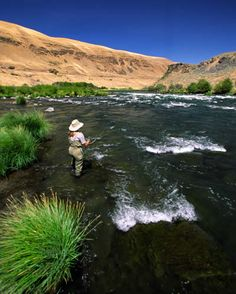Fly Fishing ~  Central Oregon  Learning to Fly Fish is on my Bucket List!!