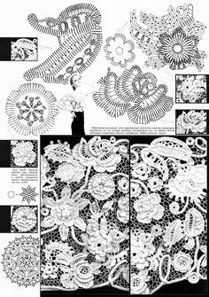 Irish crochet &: ПЕЛЕРИНА ИРЛАНДСКИМ КРУЖЕВОМ