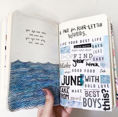 Smash book pages · wreck this journal a page for four letter words art journals, doodling journal, journal My Journal, Bullet Journal Inspiration, Journal Prompts, Art Journal Pages, Art Journals, Journal Ideas, Journal Challenge, Doodling Journal, Visual Journals