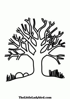 free printable bare tree coloring pages coloring pages