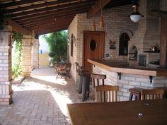 Área de churrasqueira rustica - vista lateral
