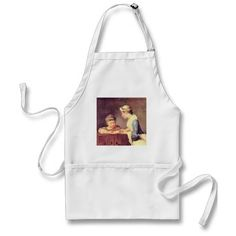 Retro Beach Pin-up Vintage Style Adult Apron - retro kitchen gifts vintage custom diy cyo personalize